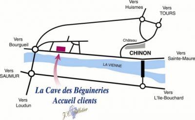 plan du domaine des béguineries