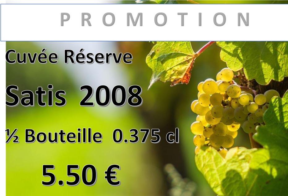 Promotion sur la cuvée Réserve Satis au domaine des Béguineries
